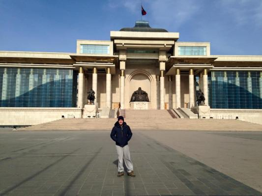 Sukhbaatar Square: one of the few things we saw in Ulaanbaatar!