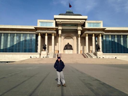Sukhbaatar Square: one of the few things we saw in Ulaanbaatar!