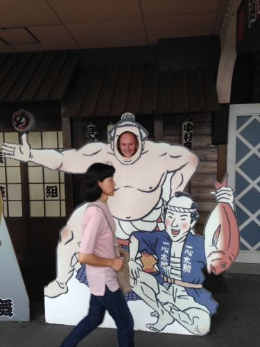 This lady clearly wasn't as excited about sumo as me.