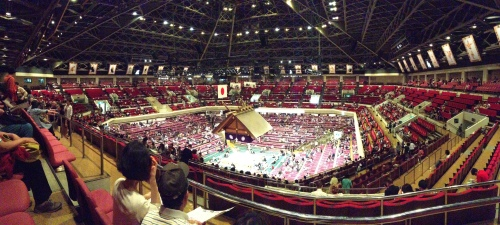 The Ryogoku Kokugikan is quite the arena!