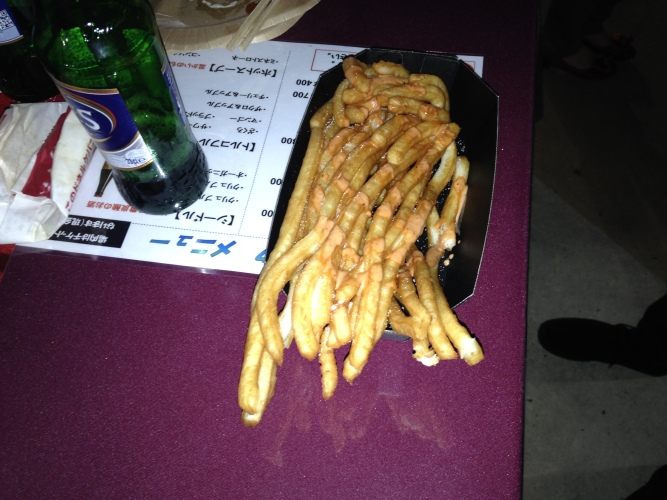 Long potatoes, or big chips?