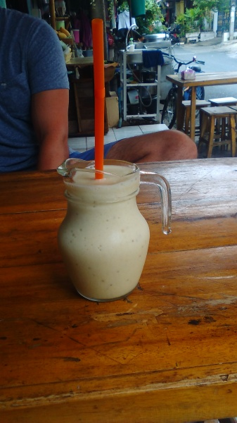 Banana shakes - no better way to start the day! And no, that's not innuendo.