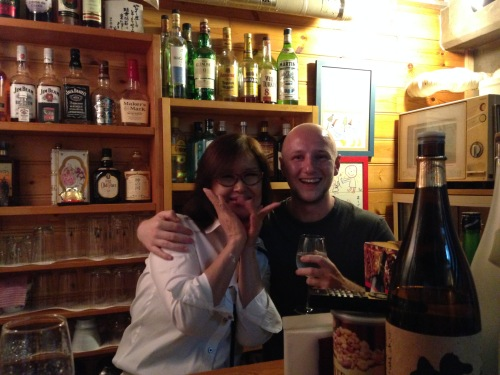 This lady is awesome, visit her bar if you're in Dotonbori!