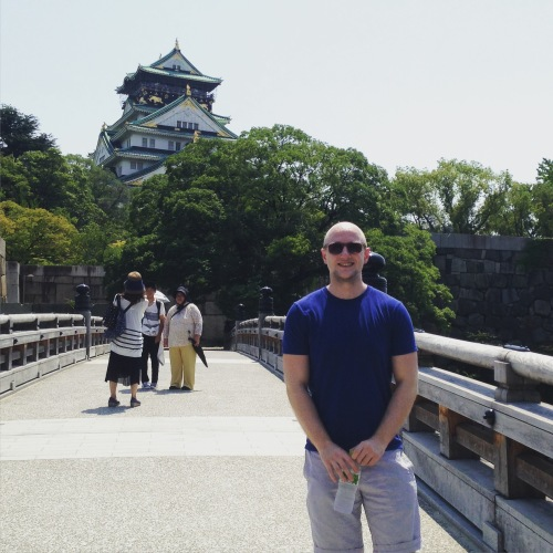 Osaka Castle...after the scare.