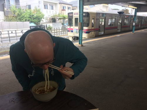 There's only so graceful you can be when you're slurping noodles.