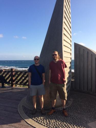 We got no pictures of New Year's Eve, so here's the picture of us at the Southernmost point of Taiwan again.